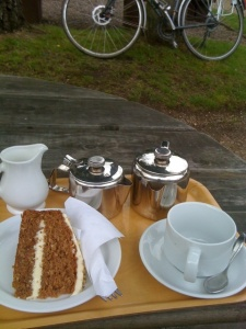 Carrot cake at Fradley junction